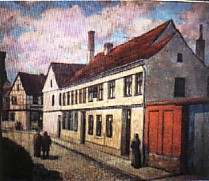 Watercolor of Clausewitz's house in Burg
