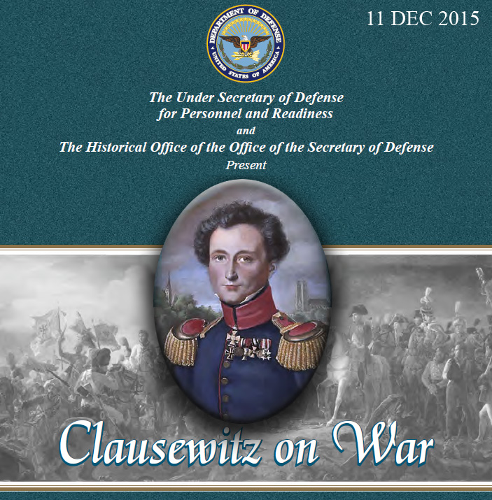Announcement of a 2015 Panel on Clausewitz at the Pentagon