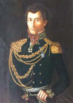 Yet another version of the c.1813 portrait in Russian uniform.