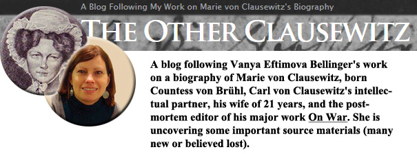 Illustration for V. Bellinger's blog on Marie von Clausewitz