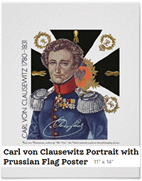 Zazzle Clausewitz poster, 11x14in.