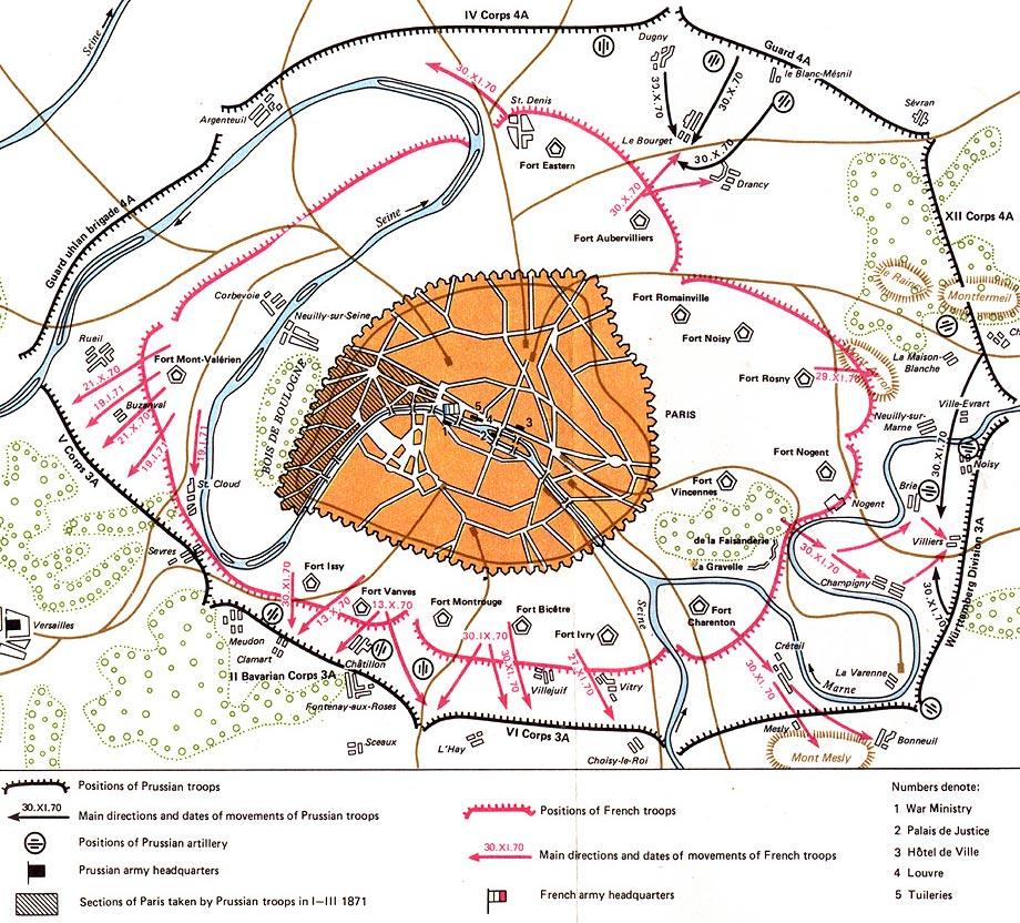map paris 1871